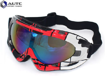 PC Mirror UV PPE Safety Goggles Black Dirt Bike Racing Wearing Comfortable