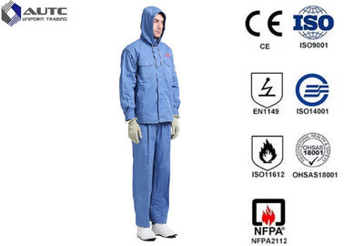 Fiber Blended Ppe Protective Clothing High Voltage Conductive Suit For Substations Inspectors